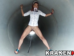 Krakenhot Super-steamy Milf in a outdoor obedience  flick