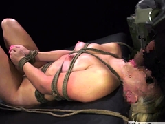Slave slobber in gullet and domme nails dame very first time