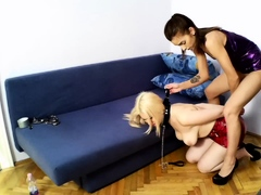 Lezzie domination Soap Opera Miss Marcella and Slavegirl Lexi Pain