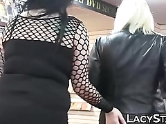Well-stacked lesbians have a go broadly BDSM gadget