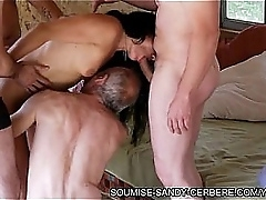 french wife unregenerate slut all round triad blowjob leftist coupled with hogtied