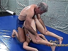 Lana Wrestles Forth Bikini Round Age-old Guy