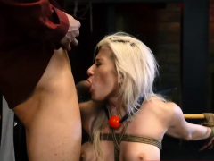 Extreme cock milking machine Big-breasted platinum-blonde