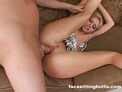 Dual ass-fuck group sex for an ultra-wild light-haired milf