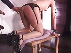 Marionette bounded gagged and torn up in the bootie