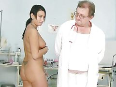 Carmen gets her cooch gaping by old mischievous gyno doctor