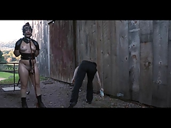 Ponyslave Freak BDSM Outdoor Instructing