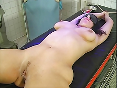 Dark-haired tart spreads her pussy for her masters bidding