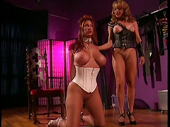 2 yam-sized  gals into bondage, Bondage & discipline and lezzie activity