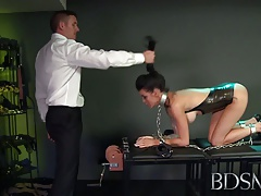 Bondage & discipline Gonzo   gets so wet when chained up and predominated