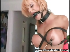Check My  - Tanned huge-boobed mummy Bondage & discipline action