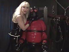Rubber Sub  used and plugged by Madame C