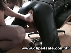 Rubber Puppy Play, Hunter Boot Workship, Anal, Jizz Gobbling