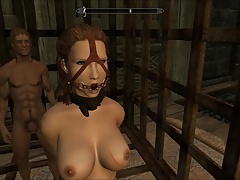 Perils of escaped Skyrim slavegirl Ten