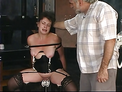 old fellows  mature brunette in