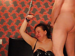 Arab Russian Slut Shackled up, Face Ravaged CIM