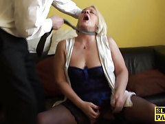 Butt-fucked uk gilf boinked firm and facialized